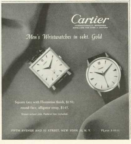 Cartier 14kt Square Round Watch (1959)