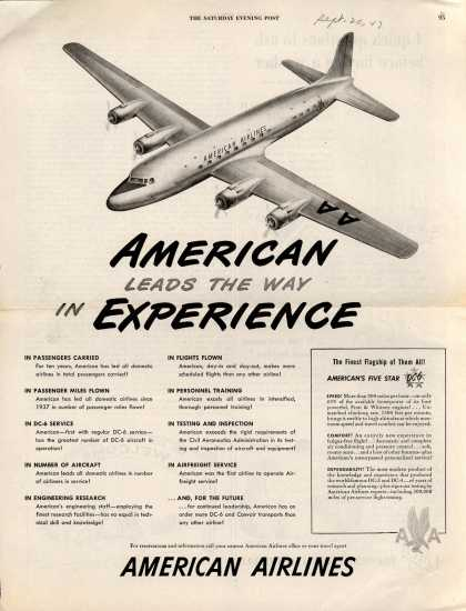 American Airlines &#8211; American Leads the Way in Experience (1947)