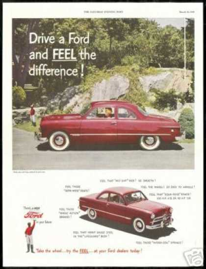 Burgundy Ford Two Door Vintage Photo Car (1949)