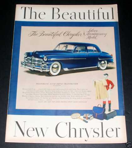 Chrysler, New Silver Anv Model, Exc (1949)