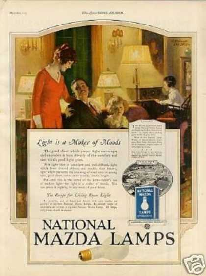 "National Mazda Lamps Ad ""Light Is a Maker... (1925)"