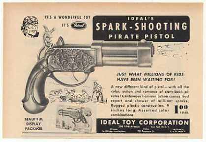 Ideal Toy Spark-Shooting Pirate Pistol Trade (1952)