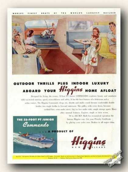 Higgins 32 Pt Junior New Orleans Advertising (1946)