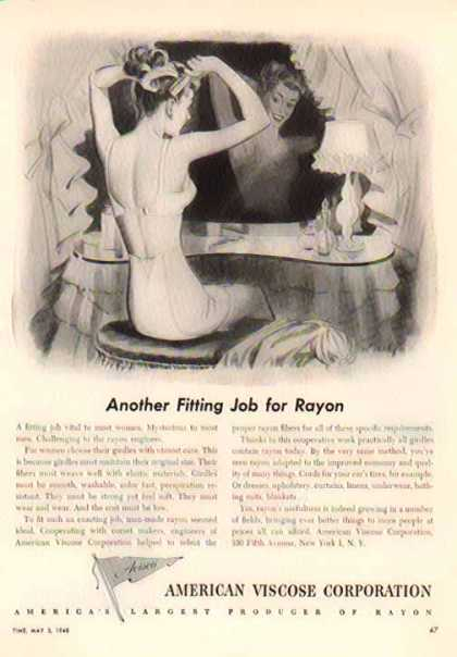 American Viscose Corporation – Another Fitting Job for Rayon – Sold (1948)