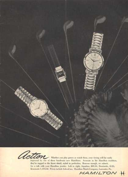 Hamilton Watch Aqualine Dominette Kinematic (1957)