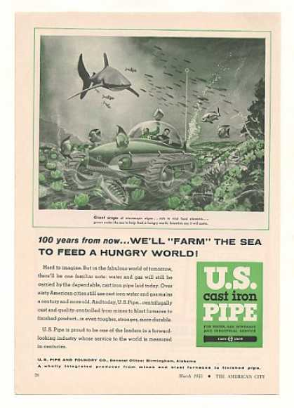 '55 Futuristic Undersea Farm US Cast Iron Pipe (1955)