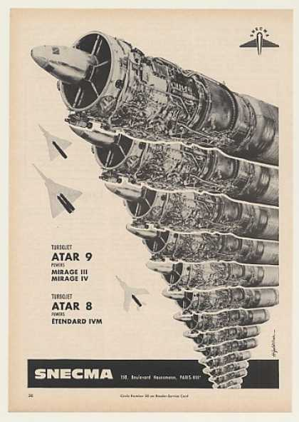 SNECMA ATAR 9 ATAR 8 Turbojet Engines (1964)