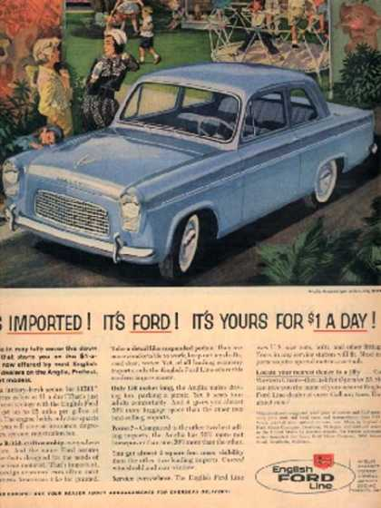English Ford's 1959 Anglia sedan