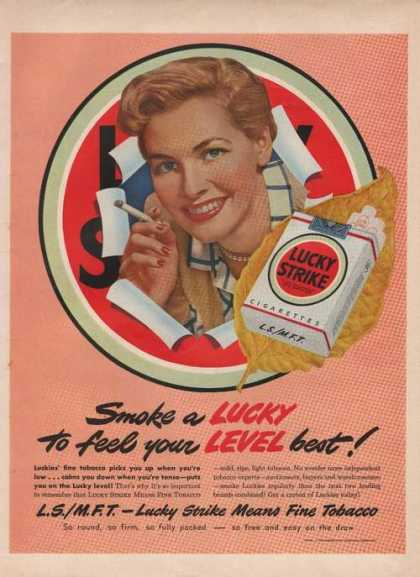 Lucky Strike Cigarette Level Best (1949)