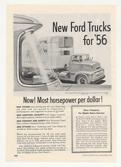 '55 1956 Ford C-750 Big Job Truck Most Horsepower (1955)