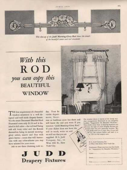 Judd Drapery Fixtures Rod for Curtains (1929)