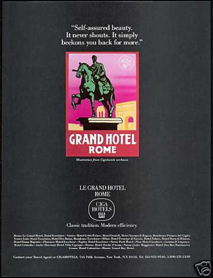 CigaHotels Le Grand Ciga Hotel Rome (1984)