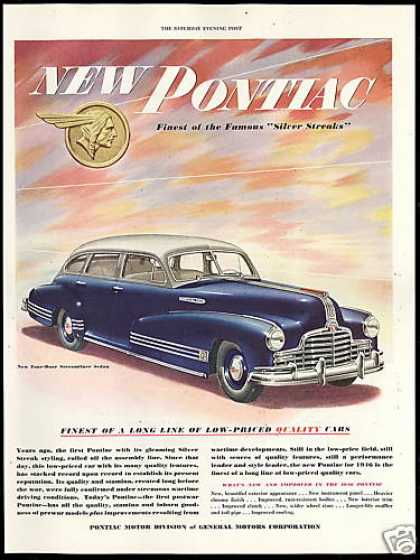 Pontiac Silver Blue Streamliner Sedan Car (1946)