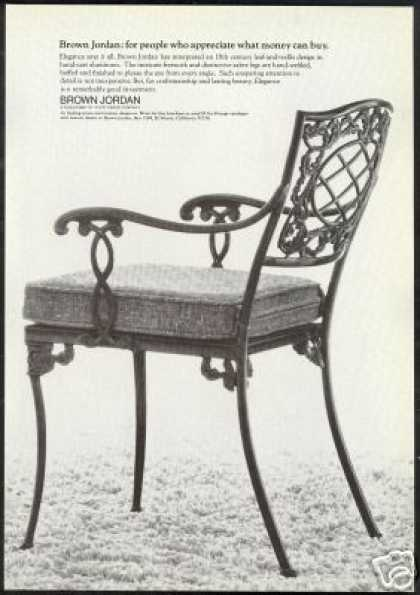 Brown Jordan Leaf Trellis Chair Furniture Photo (1974)