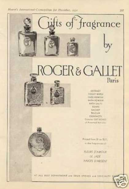 Roger & Gallet Perfume (1930)
