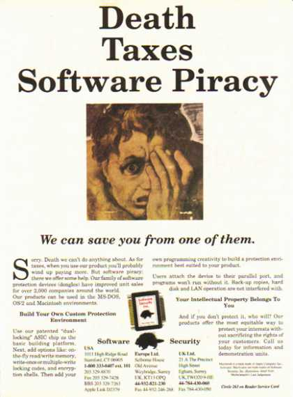 Software Security – Death, Taxes, Software Piracy (1990)