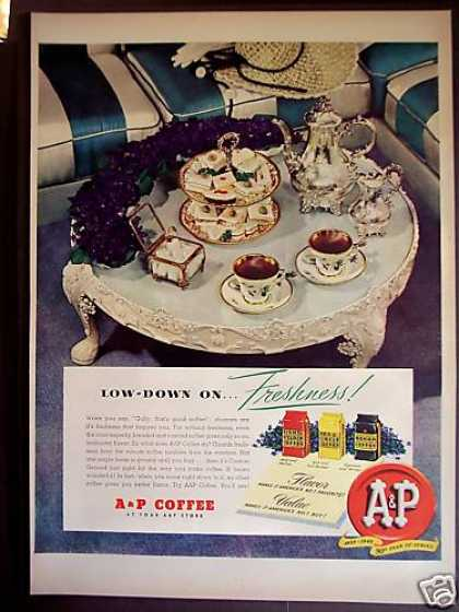 Fancy Tea Set A&p Coffee (1949)