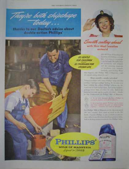Phillips Milk of Magnesia AND Mobil Gas flying horse (1946)