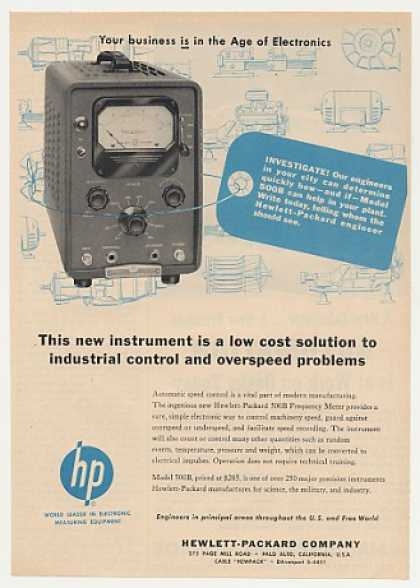 Hewlett-Packard HP 500B Frequency Meter (1955)