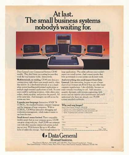 Data General Commercial Systems CS/40 Computer (1977)