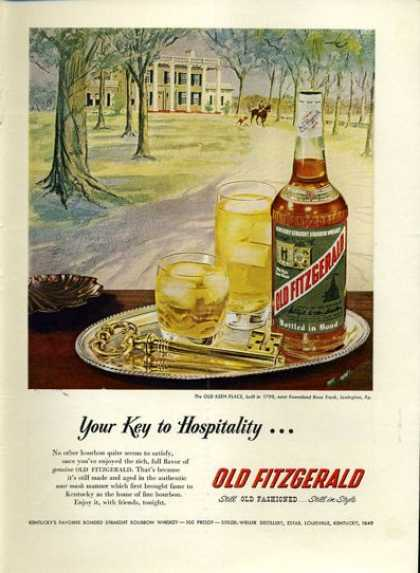 Old Fitzgerald Whisky Old Keen Place (1952)