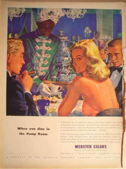 Webster Cigars Dine in the pump room (1946)