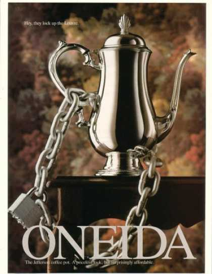 Oneida Jefferson Coffee Pot Chained Locked (1993)