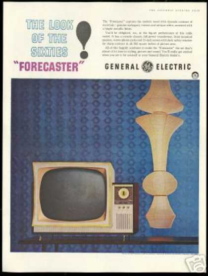 GE General Electric Modern Deco TV Television (1959)