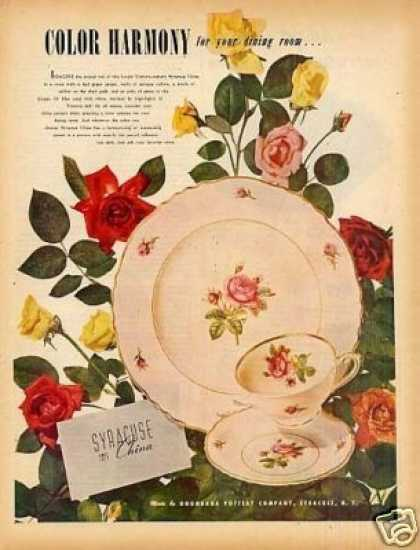 Syracuse China Ad Victoria Pattern (1949)