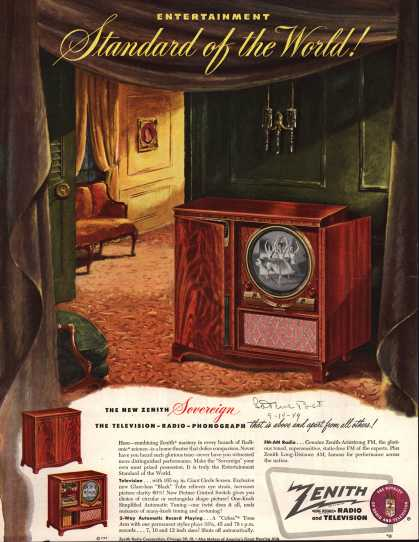 Zenith Radio Corporation's Radio Phonograph Television – Entertainment Standard of the World (1949)