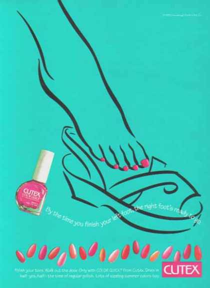 Cutex Color Quick Polish – Colorful Toe Nails (1993)