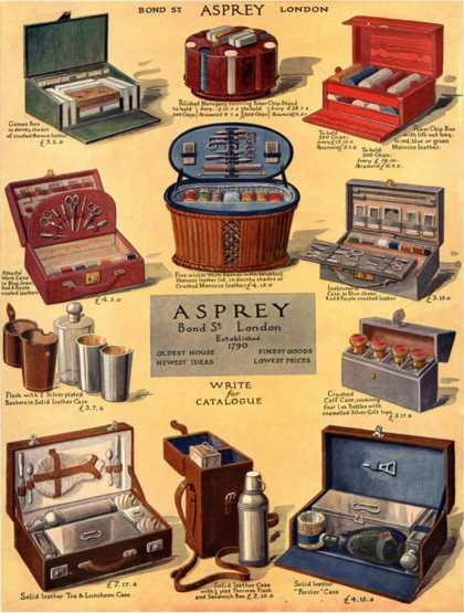Asprey, Luggage Asprey Gifts, UK (1925)