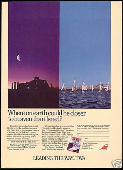 Israel Heaven on Earth TWA Airlines (1985)