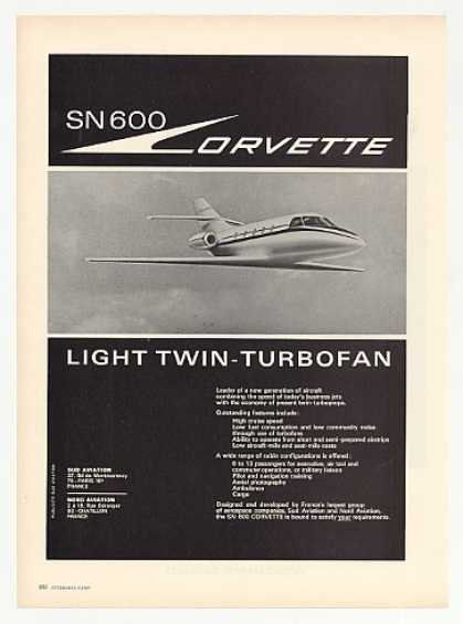 Sud Nord SN 600 Corvette Twin Turbofan Aircraft (1969)