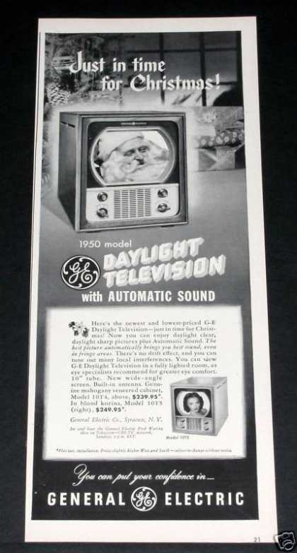 Ge, Daylight Tv, Christmas (1949)