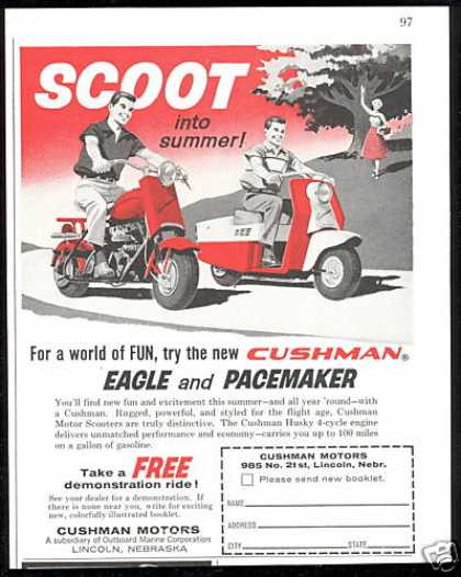 Cushman Motors Eagle Pacemaker Scooter (1958)