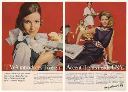 TWA Airlines Foreign Accent Flight Hostesses 2P (1968)