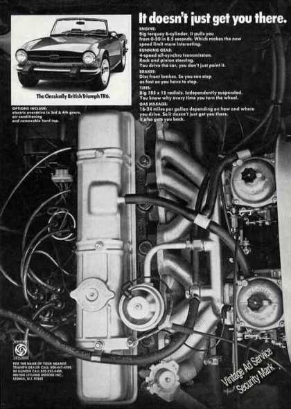 British Triumph Tr6 Large Engine Photo (1974)