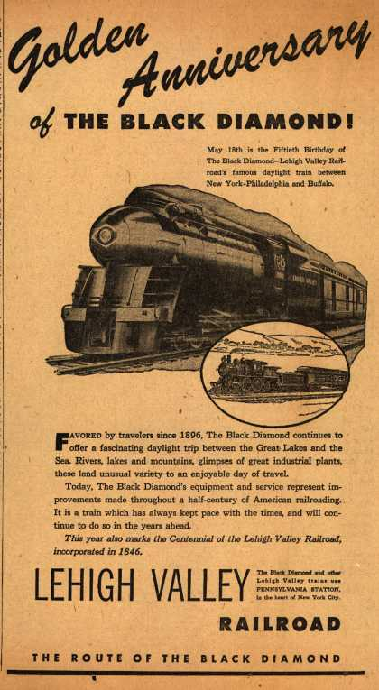 Lehigh Valley Railroad's The Black Diamond – Golden Anniversary of the Black Diamond (1946)