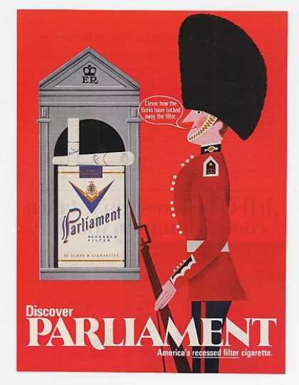 Parliament Cigarette British Guard (1969)