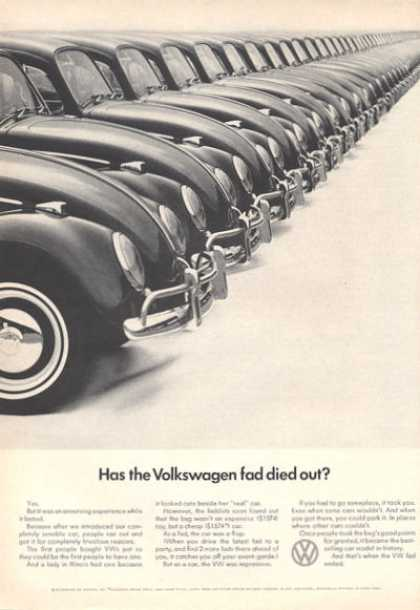 Vw Volkswagen Ad Has the Fad Died Out? (1966)
