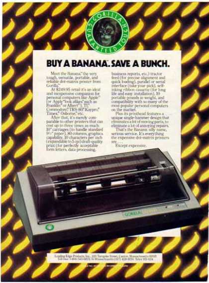 Gorilla – Banana – Dot-Matrix Printer (1983)