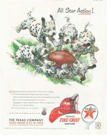 Texaco Dalmatian Puppies Playing Football (1952)