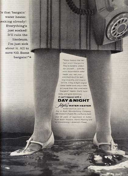 Day & Night's Jetglas Water Heaters (1960)