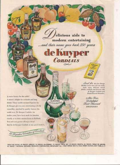 De Kuyper Fruit Brandies (1946)
