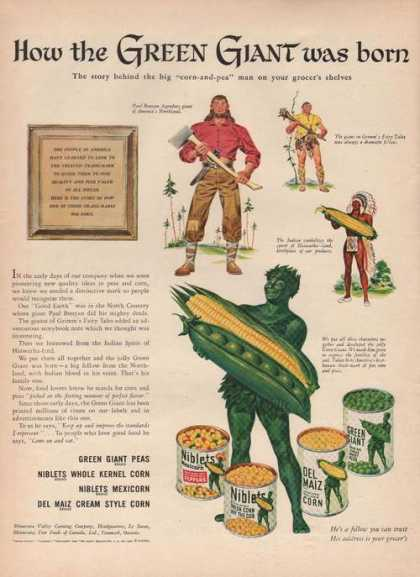 Green Giant Was Born Corn Niblets (1946)