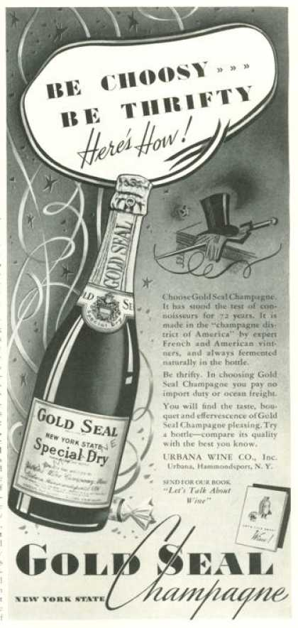 New York Gold Seal Champagne Bottle (1938)