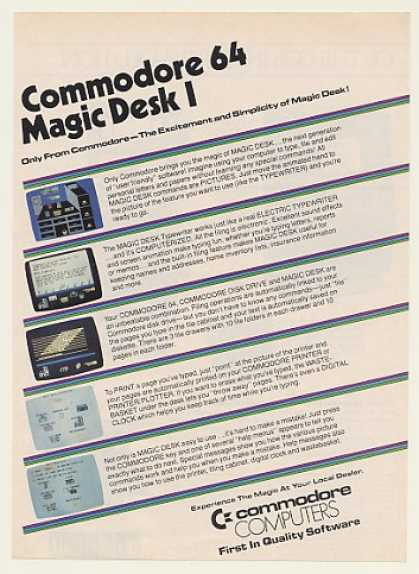 Commodore 64 Magic Desk Computer Software (1984)