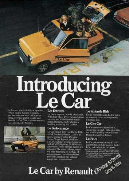 Introducing Le Car By Renault (1977)