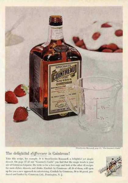Cointreau Liqueur Strawberries Romanoff (1963)